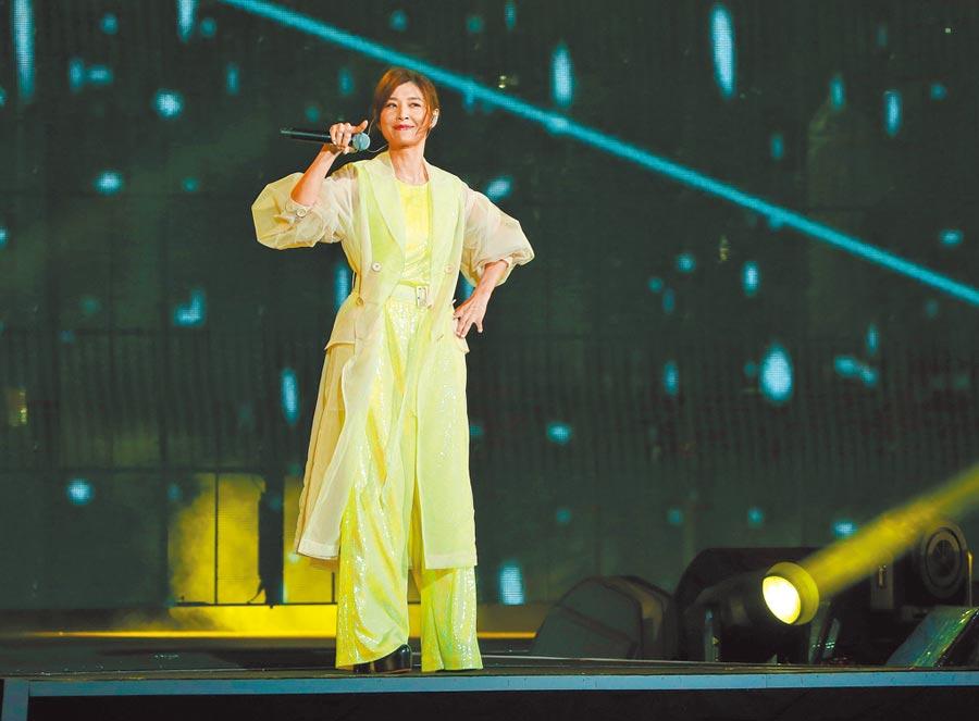 蘇慧倫美麗如昔,是跨年藝人演出橋段收視最高點。(資料照片)