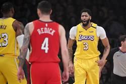 NBA》一眉哥棒打老東家 湖人輕取鵜鶘