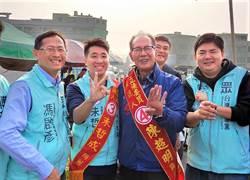 選戰倒數衝刺 陳超明、朱哲成通霄市場巧遇