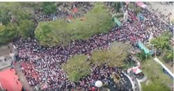 韓國瑜台南大造勢360°空拍影片曝光 網激動