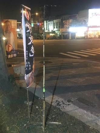 蔡英文林俊憲競選旗幟被燒 警火速破案