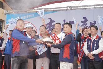 李武龍善化造勢說政見  要為勞工及軍警公教出口氣