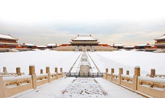 北京追初雪 銀白色故宮美呆