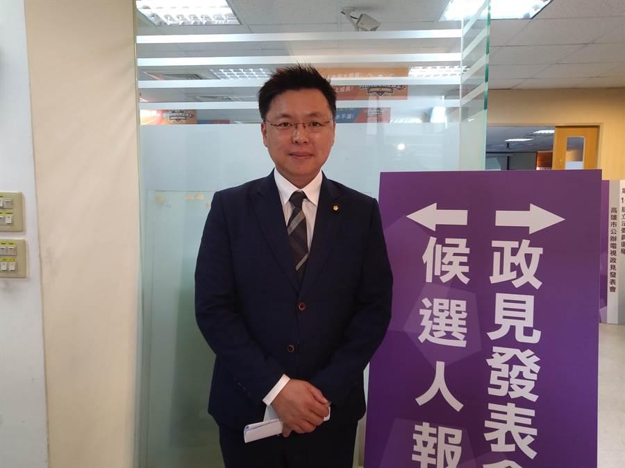 民進黨立委候選人趙天麟重視藝文與親子活動,並對於鐵路地下化與土地活化有獨特見解。(林雅惠攝)