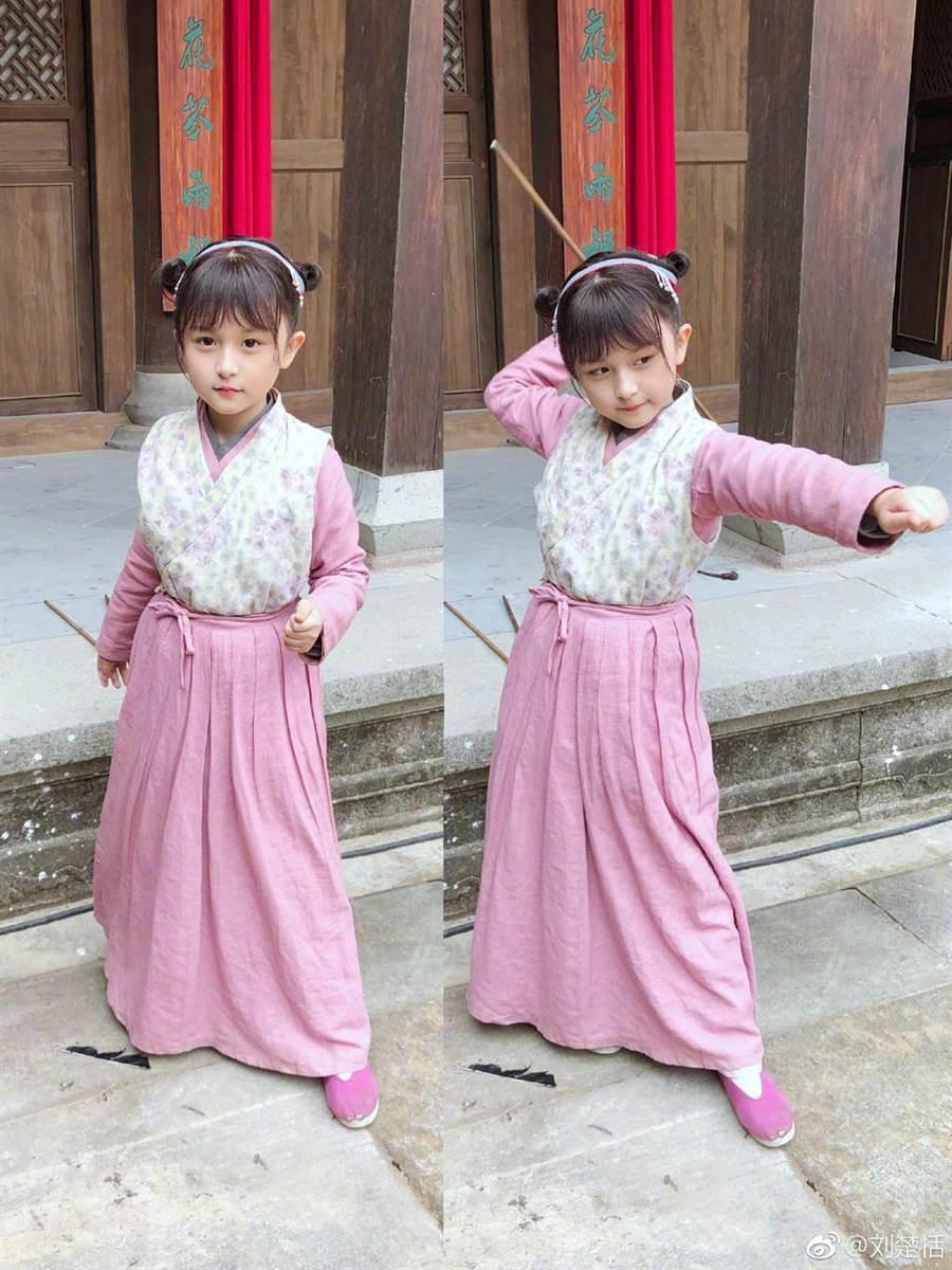 5歲就出道的劉楚恬,近年來陸續接演了不少戲劇演出。(圖/摘自劉楚恬微博)