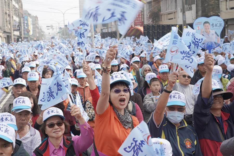 李武龍善化舉辦造勢大會,不少鄉親前往支持。(李武龍競選總部提供/劉秀芬台南傳真)