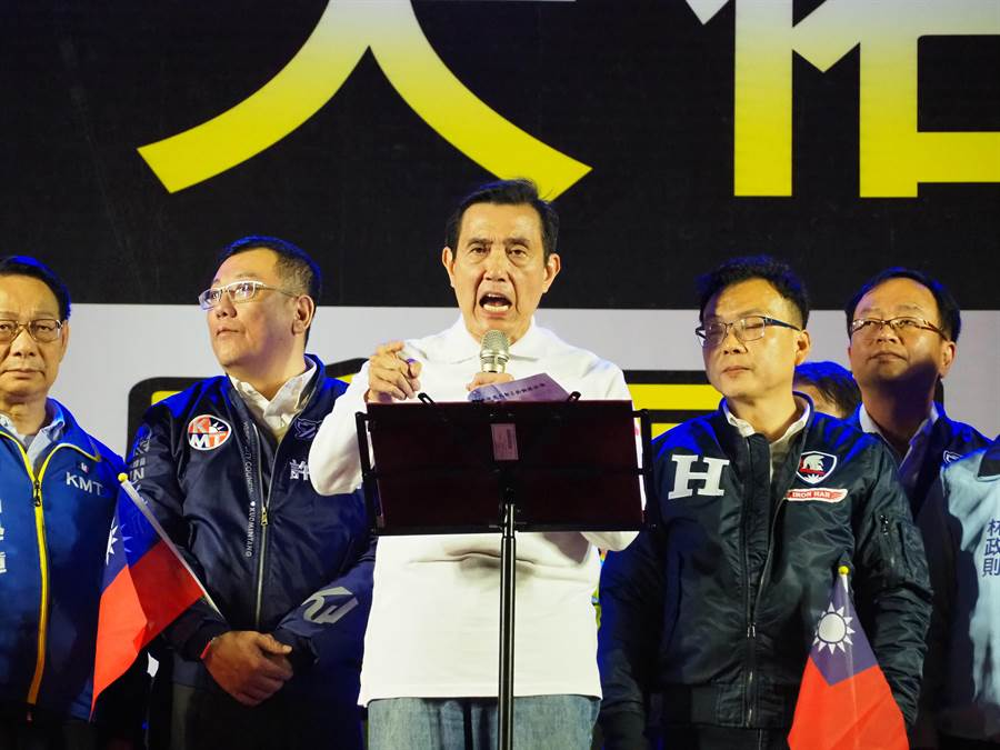馬英九憤怒表示,反滲透法是非常可怕、可惡又可恥的法案,1月11日一定要下架民進黨政府。(陳育賢攝)