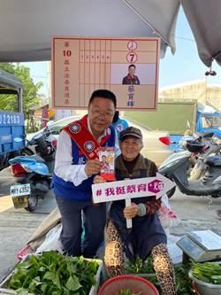 藍營台南蔡育輝、賴惠員參加聯合造勢
