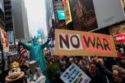 全美80多個反戰示威,籲別再打仗了
