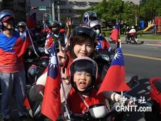 韓國瑜鐵騎隊 媽媽載小孩相挺