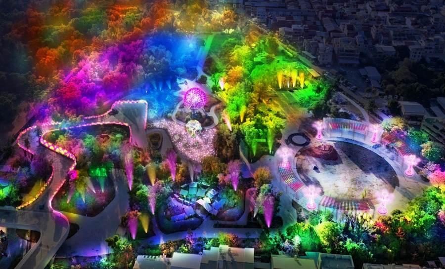 今年元宵燈會展區模擬圖。(觀光局提供)