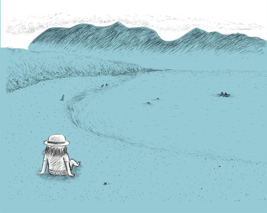 曾入选法国安古兰国际漫画节新秀奖的林莉菁,驻村于都兰数月后,将所见所闻化为新作《Fudafudak闪闪发亮之地:Formosa环保小农奋斗记》。(前卫出版社提供/王宝儿台北传真)