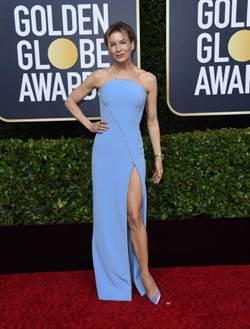 《金球獎紅毯》影后芮妮齊薇格辣秀白皙美腿!瑪歌羅比不戴珠寶走紅毯.......珠寶品牌哀嚎了