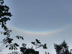台中東勢出現倒彩虹 宛如微笑超吸睛