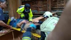 林口發生工人墜樓意外 命危搶救中