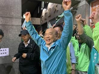蘇揆陪弟子張宏陸掃街 巧遇民眾黨候選人