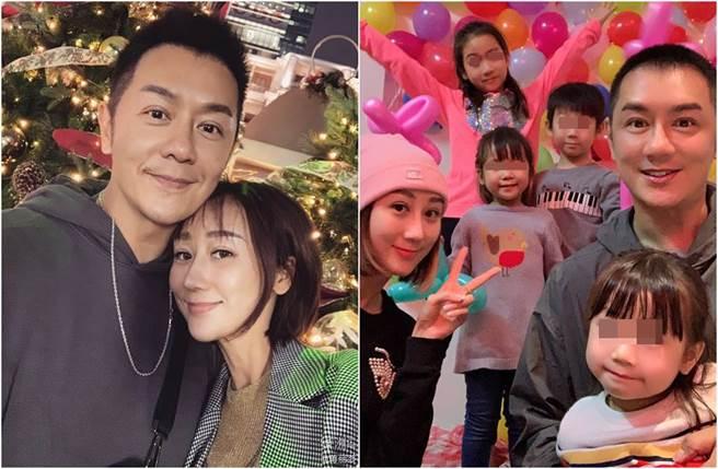 蔣麗莎和陳浩民結婚9年育有3女1子。(圖/翻攝自微博)