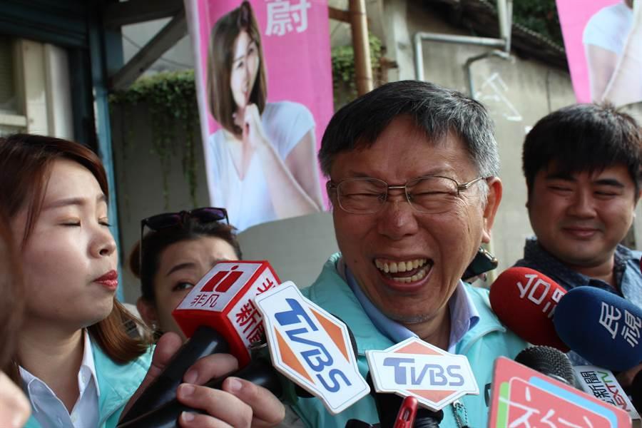 余天坦承對三重沒有建設是因為藍營執政,台灣民眾黨主席柯文哲回應,懶惰就是懶惰,「阿婆袂生牽拖厝邊」。(戴上容攝)