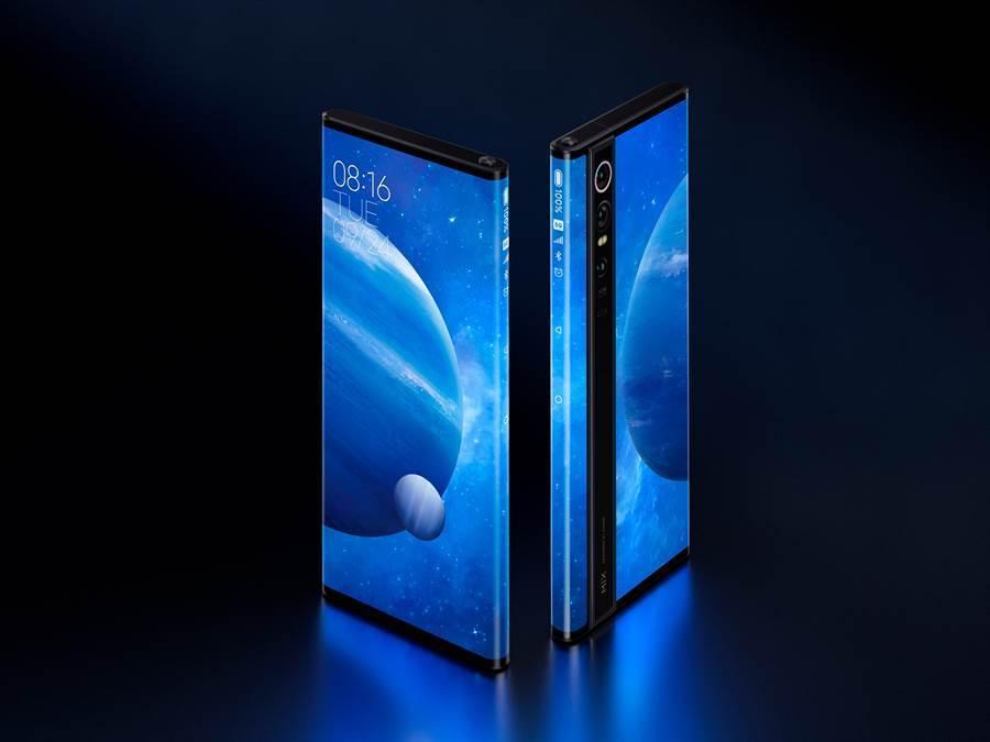 小米MIX Alpha在 2019 年 9 月份發表,原定 12 月上市,但官方並未兌現。很可能成為一款 PTT 手機(只有在發表時曝光過,無法買到)。(小米提供/黃慧雯台北傳真)