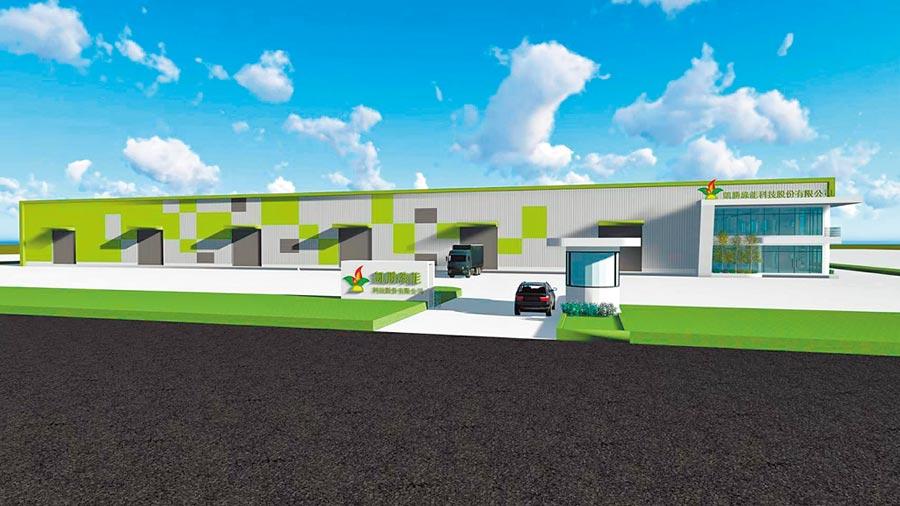 凱勝綠能在嘉義縣馬稠後工業區的新廠今年可望竣,將是全台規模最大且完整的電動車輛產製基地。(凱勝綠能提供/呂妍庭嘉義傳真)