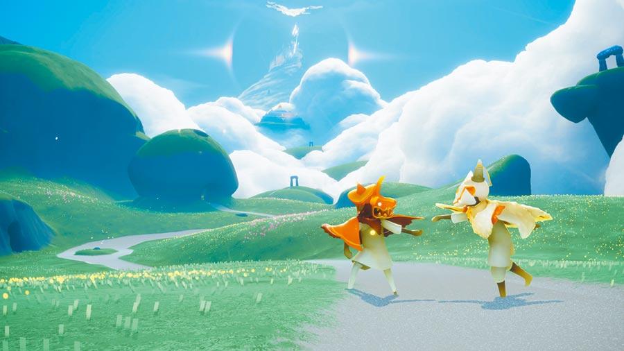 App Store上iPhone年度最佳遊戲,由療癒系畫風的《Sky:Children of the Light》獲得,為開創性的社會探索遊戲。(蘋果提供)