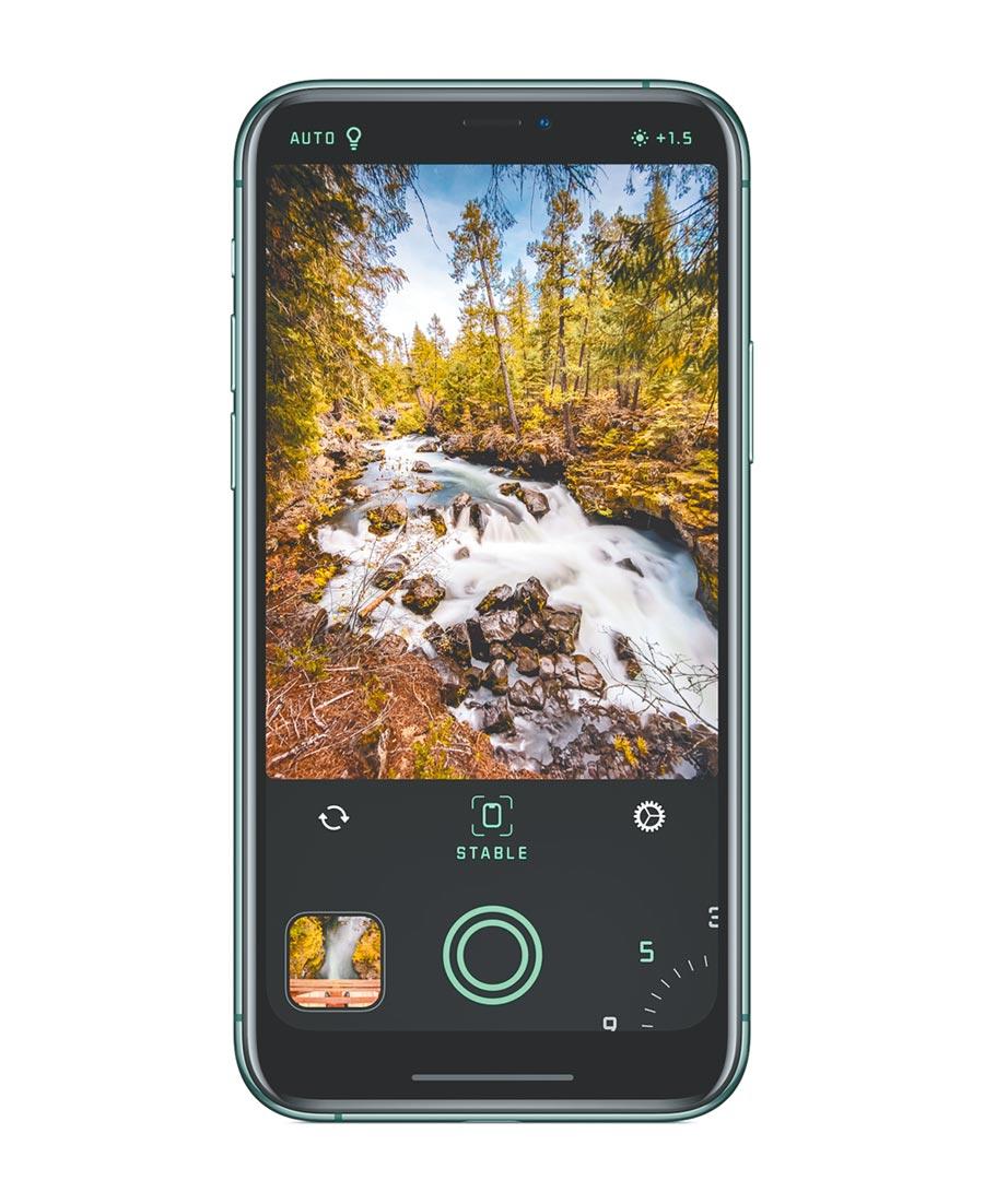 2019年iPhone年度最佳APP的《Spectre Camera》,主打以AI技術去拍攝長時間曝光的照片。(蘋果提供)