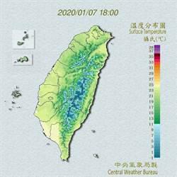 明冷氣團報到 周日高山有機會降雪