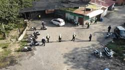 選前防範犯罪 玉井警分局出動空拍機加強清山