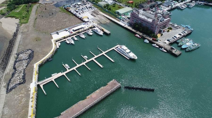 遊艇專用碼頭空拍圖。(圖取自新北市漁業處官網)
