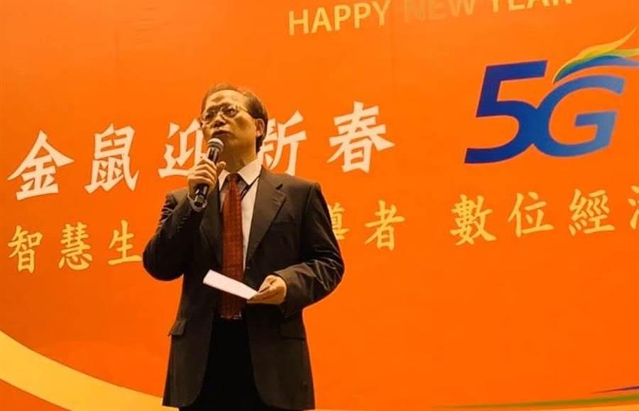 中華電董事長謝繼茂於6日年度感恩餐會致詞。(圖/王逸芯)