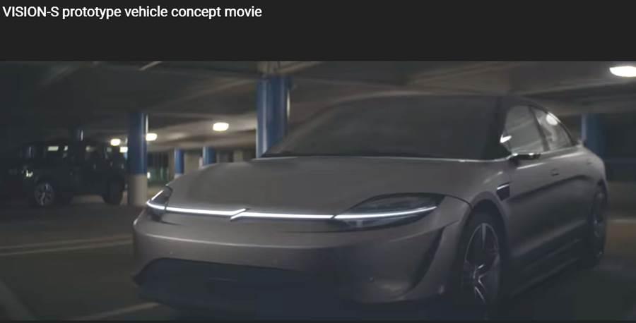 索尼的電動概念車,造型酷炫。圖/截取自Vision-S宣傳影片