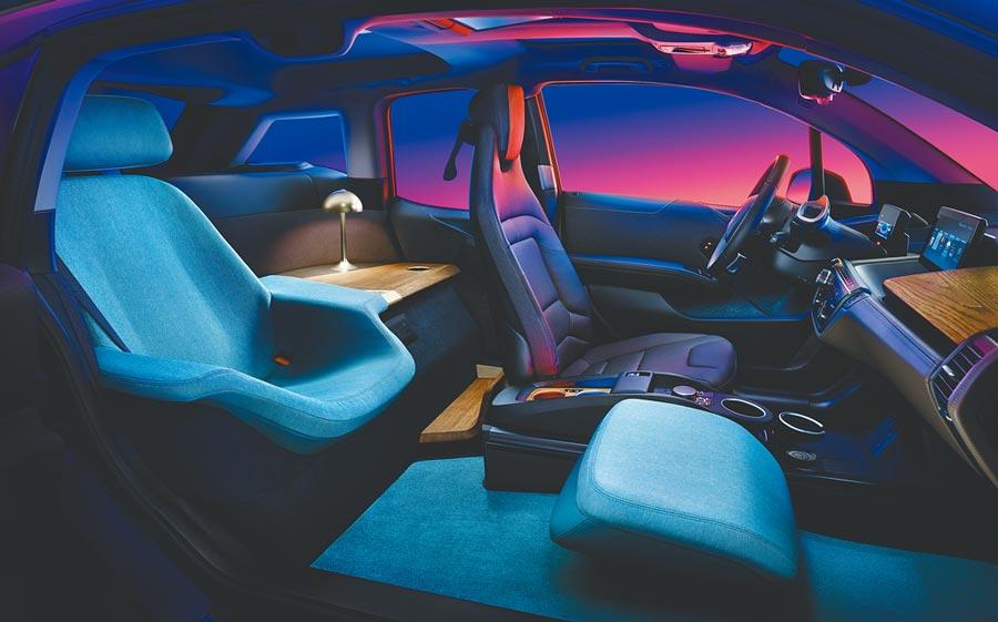 BMW i3 Urban Suite車內為雙座,最重要的是乘客可擁有完全個人化的空間。(BMW提供)