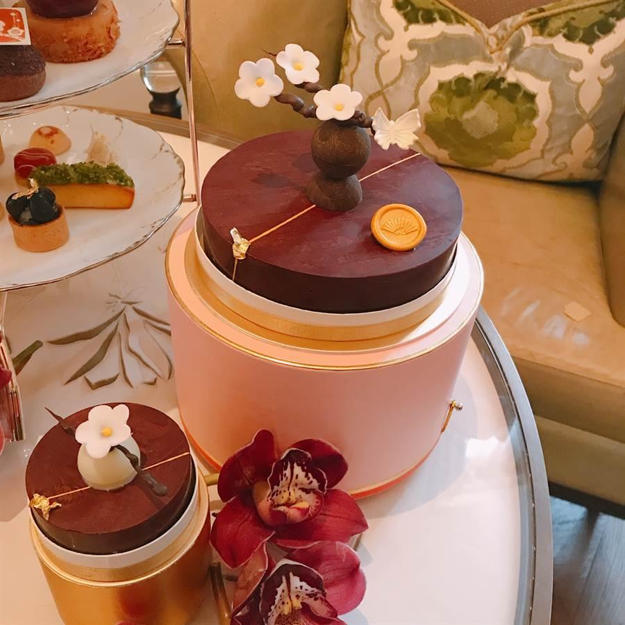 雪花秀-梅雪之綻5吋聯名蛋糕。(圖/邱映慈攝影)