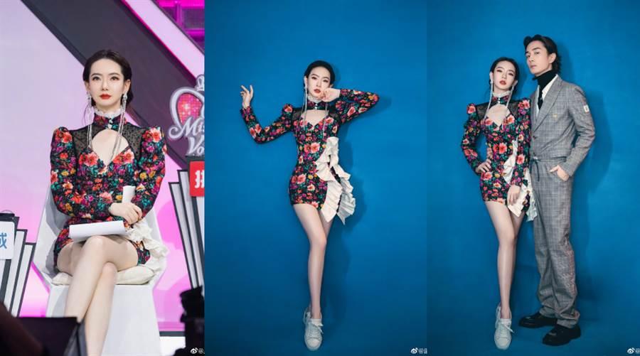 戚薇與老公李承鉉合體上節目。(圖/摘自微博@戚薇)