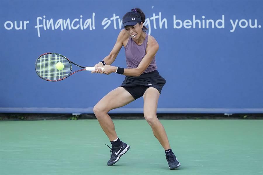 謝淑薇在布里斯本女網賽女雙第一輪旗開得勝。(資料照/美聯社)