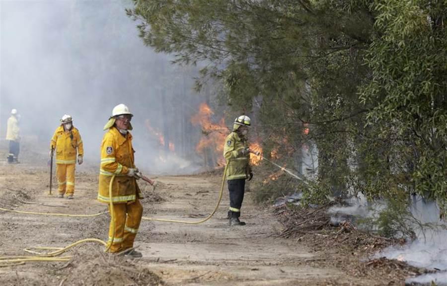 專家預估,澳洲野火可能還得延燒數月。穆迪經濟學家指出,這場野火造成的經濟損失,將超越10年前黑色星期六大火寫下的44億美元紀錄。(美聯社)