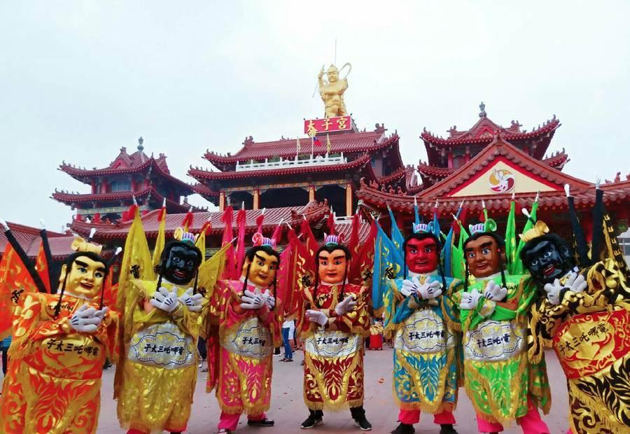 電哪吒電音三太子代表台灣參加香港新春匯演。(香港旅遊發展局提供)