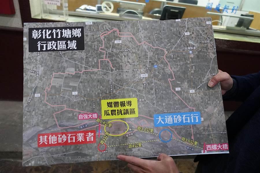 委任律師郭羿廷表示,農民當年抗爭抗爭的地點並非李日貴經營的區域,兩者距離3、4公里,遭媒體惡意移花接木抹黑。(周麗蘭攝)