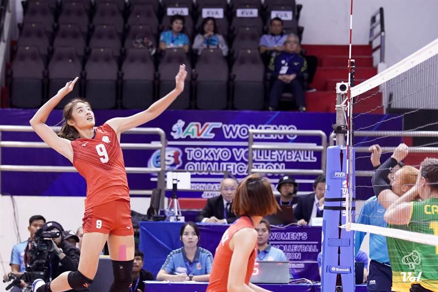 中華女排在東京奧運亞洲區資格賽直落三輕取澳洲。(VOL SPORTS提供)