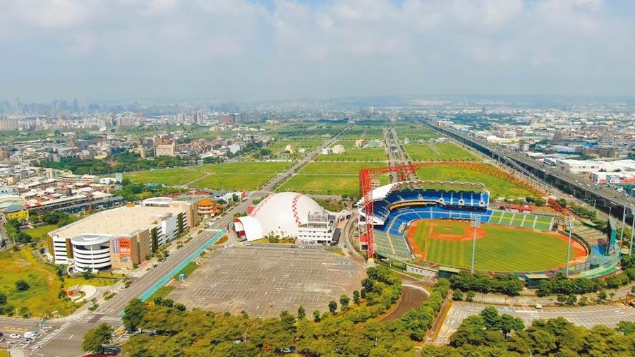 台中市14期重劃區將蓋巨蛋,以永續生態、人文關懷的觀念,打造運動廊帶。(台中市府提供/盧金足台中傳真)