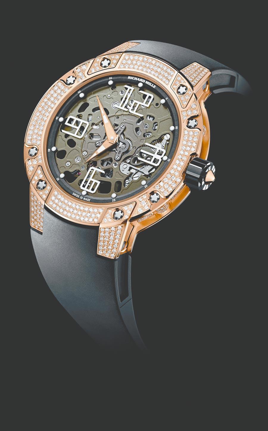 RICHARD MILLE於2011年打造RM 033腕表,圓融又不減個性。(RICHARD MILLE提供)