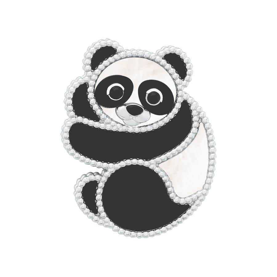 梵克雅寶2020年新登場的Lucky Animals熊貓胸針。(Van Cleef & Arpels提供)