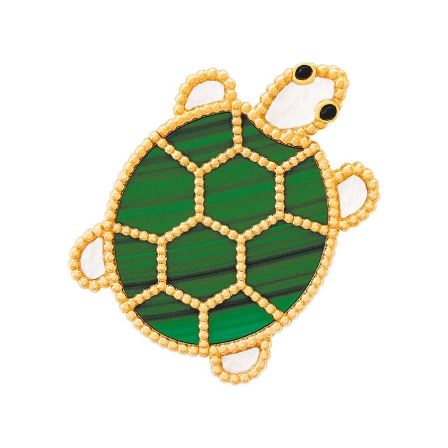 梵克雅寶2020年新登場的Lucky Animals烏龜胸針。(Van Cleef & Arpels提供)