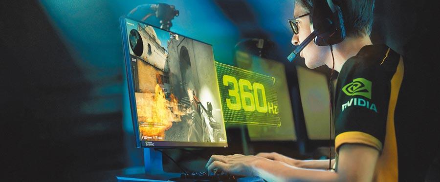 2.NVIDIA在CES 2020上推出畫面更新率達360Hz的全新G-SYNC顯示器。(NVDIA提供)