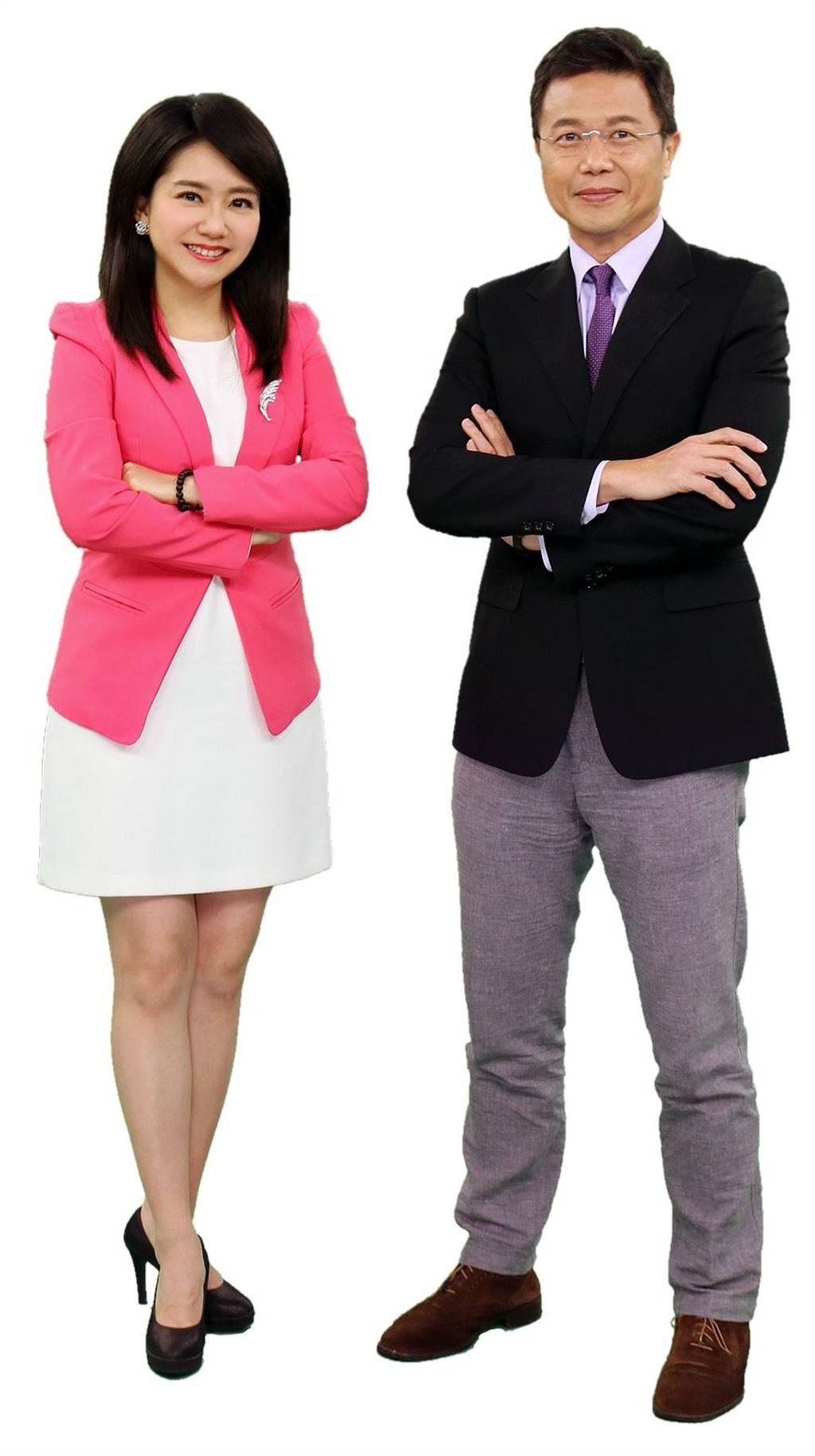 中視主播哈遠儀、梅聖旻1月11日下午3點坐鎮中視報導選情。(中天提供)