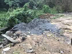 亂倒水溝淤泥 司機被警方查獲