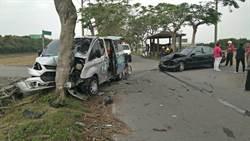 彰化復康巴士遭撞 車上5老人1死4傷