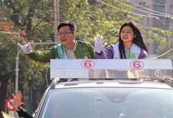 張廖萬堅女兒陪同掃街  籲投票
