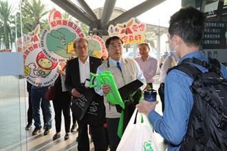 把握神聖一票 黃偉哲赴台南高鐵站歡迎市民返鄉投票