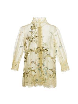 重視同色系穿搭 竹節設計出釦飾 夏姿春夏入竹林秀東方禪意